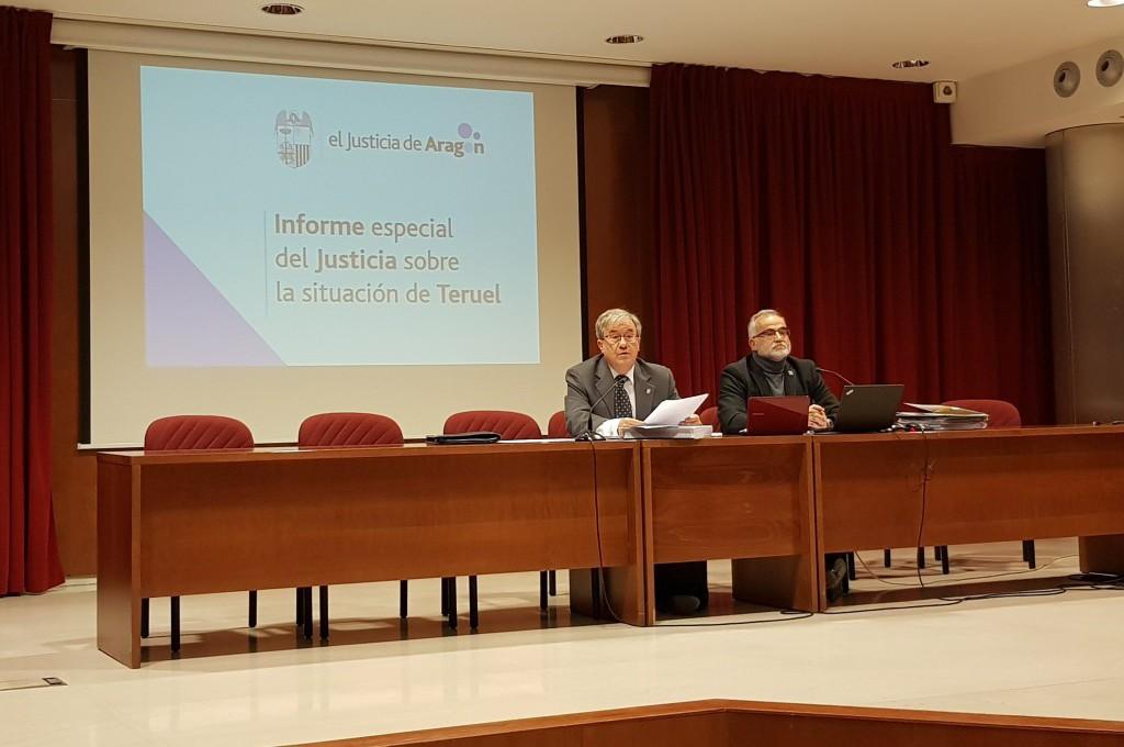 El Chustizia presenta su Informe Especial sobre la situación de la zona sur de Aragón