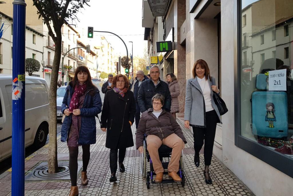 María Victoria Broto destaca el esfuerzo de Samianigo por lograr la inclusión eliminando barreras de movilidad