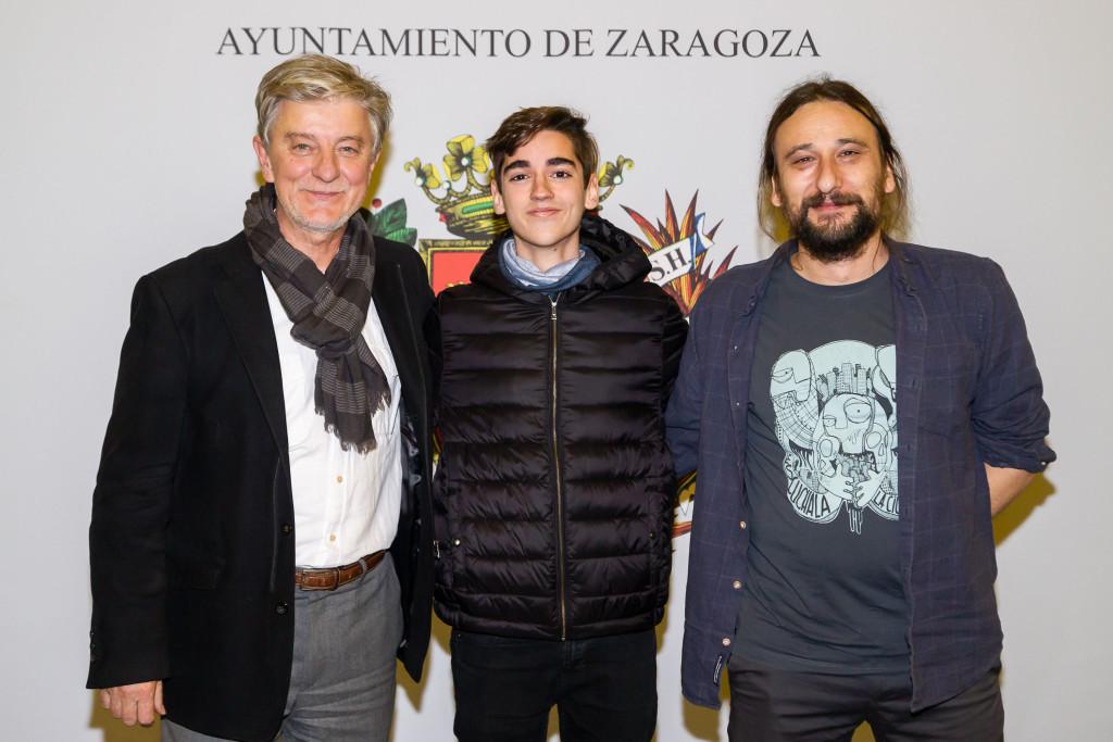 El alcalde de Zaragoza recibe a Pedro Ginés, campeón del mundo de ajedrez en categoría sub-14