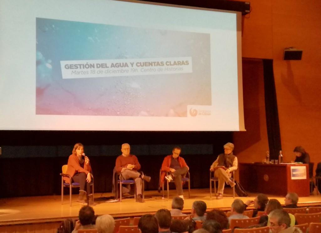 Zaragoza en Común debate sobre la gestión del agua en la capital aragonesa