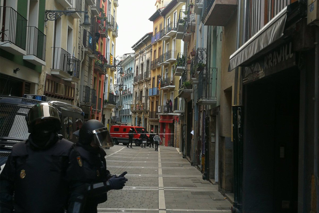 La Policía Foral entra en el Gaztetxe Maravillas de Iruñea