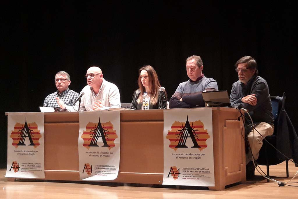 Creada la Asociación de personas afectadas por el amianto en Aragón