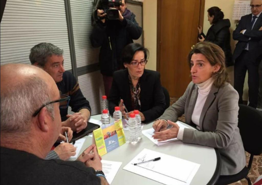'Andorra no se vende, se defiende', la comarca se moviliza ante la visita de Teresa Ribera
