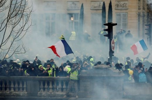 Octava semana de protestas del movimiento 'chalecos amarillos' por todo el Estado francés