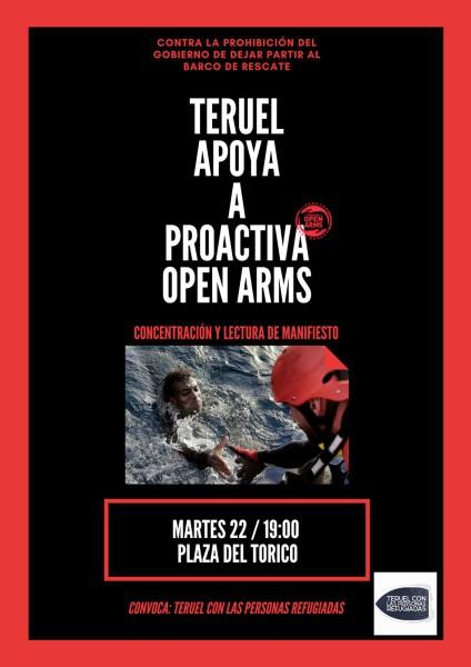 Concentración Teruel apoya los barcos de rescate