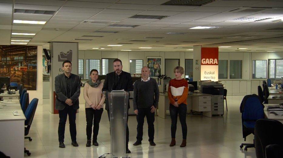"""Gara denuncia que la imposición del pago de la deuda de Egin es """"un expolio y un ataque a la libertad de prensa"""""""