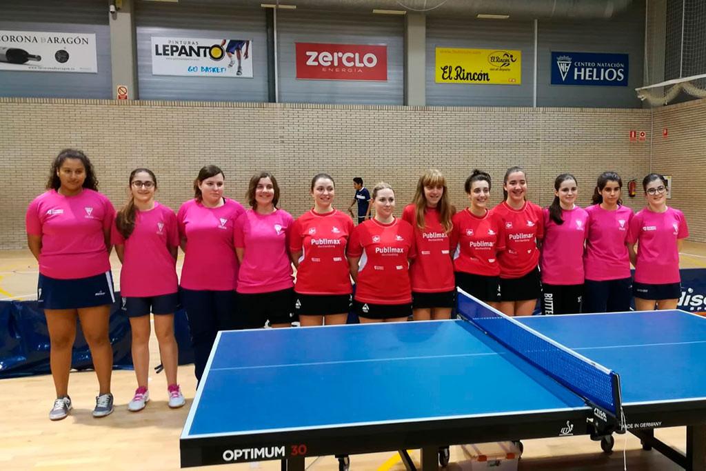 El tenis de mesa femenino aragonés viaja a Valladolid para disputarse una concentración de la Primera División
