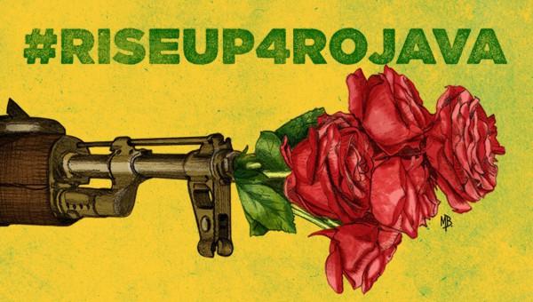 Murales en apoyo a Rojava y Kurdistan en Teruel