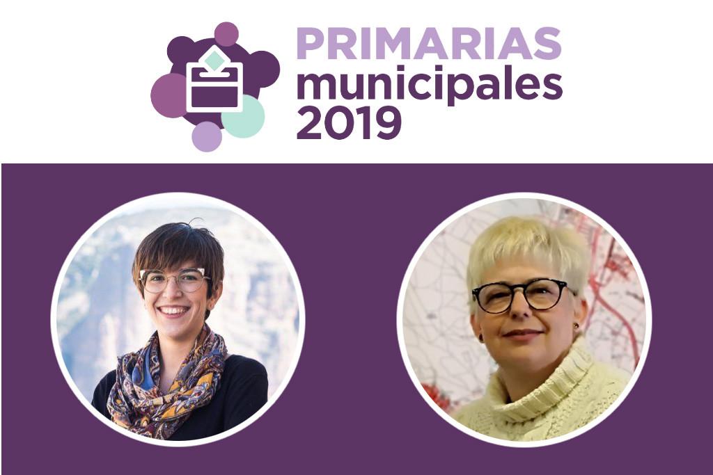 Pilar Vaquero y Violeta Barba encabezan las candidaturas a las primarias de Podemos Zaragoza