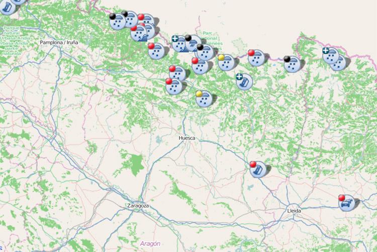 Cuatro tramos cortados y diez con el uso obligatorio de cadenas en los Pirineos