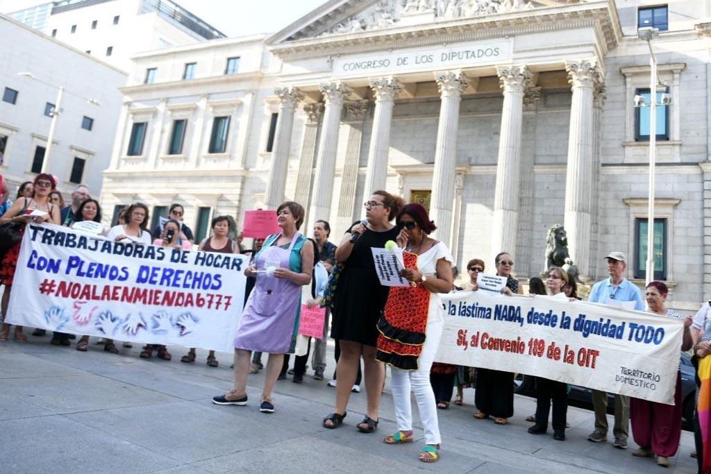 Basta de retrasos, trabajadoras de hogar y de cuidados con plenos derechos ya