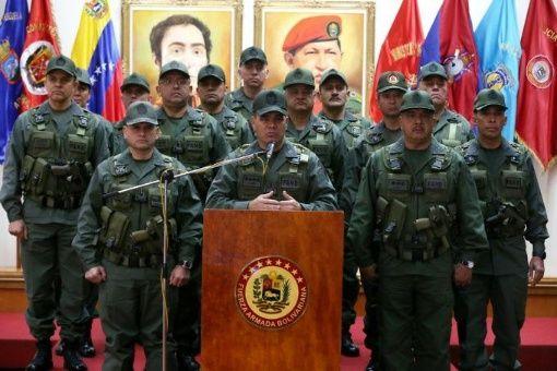La Fuerza Armada Nacional Bolivariana rechaza la autoproclamación de Guaidó y ratifica su apoyo a Maduro