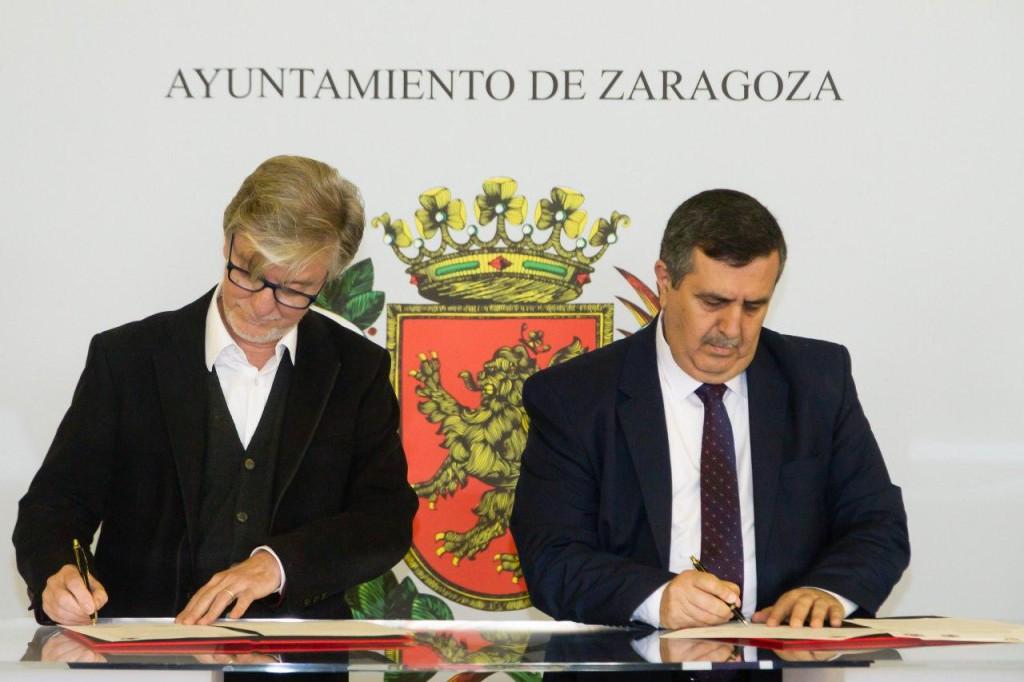 El alcalde de Belén, Anton Salman, llega a Zaragoza para firmar el 'Protocolo de Hermanamiento' entre las dos ciudades