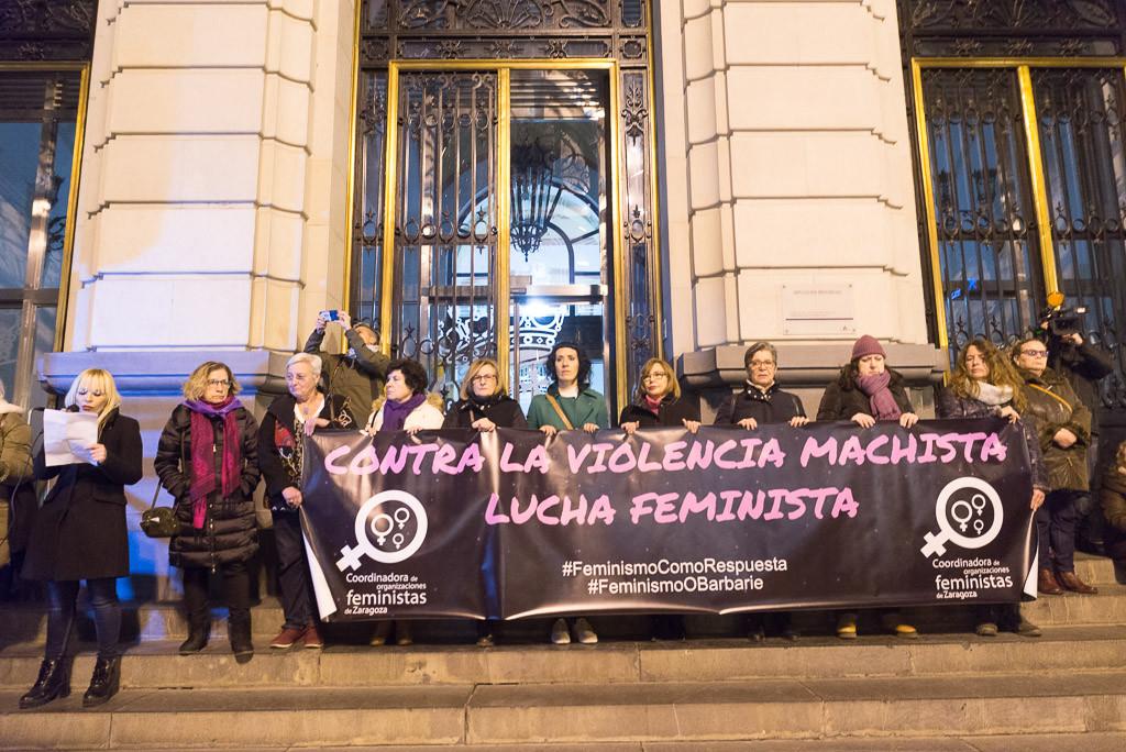 El movimiento feminista vuelve a la calle en repulsa por el feminicidio cometido en Zaragoza