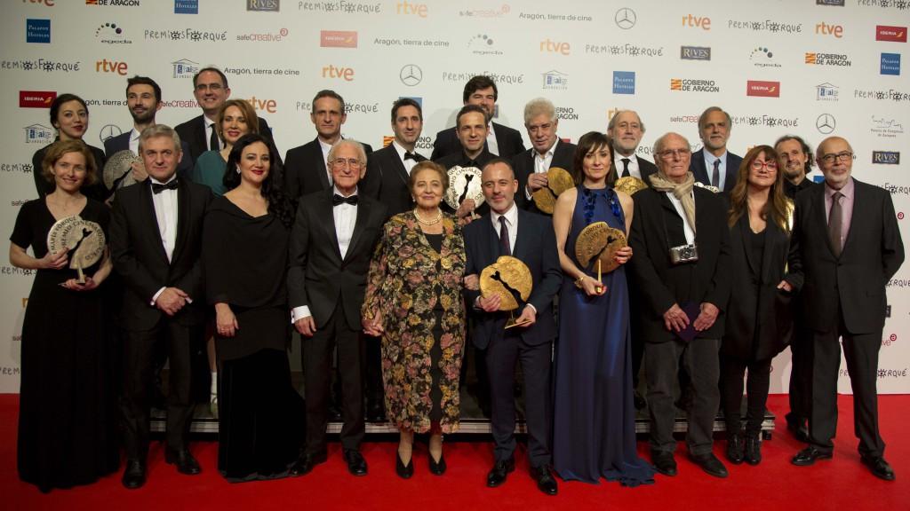 Carlos Saura, Imanol Arias o el director J.A. Bayona entregarán el sábado en Zaragoza un premio Forqué