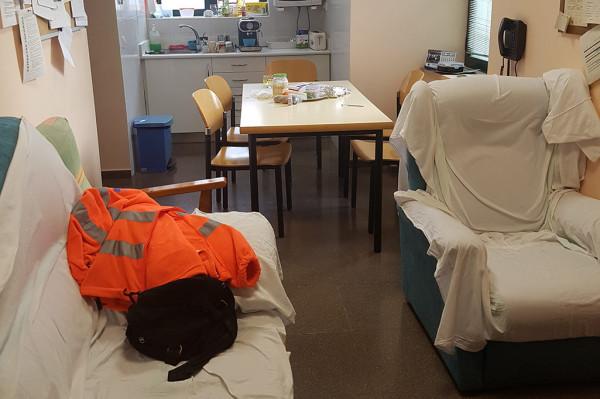 Centros de Salud de Casp y Borja donde pretenden que se comparta junto al personal del centro, entorno a cinco personas más. Foto: CGT.