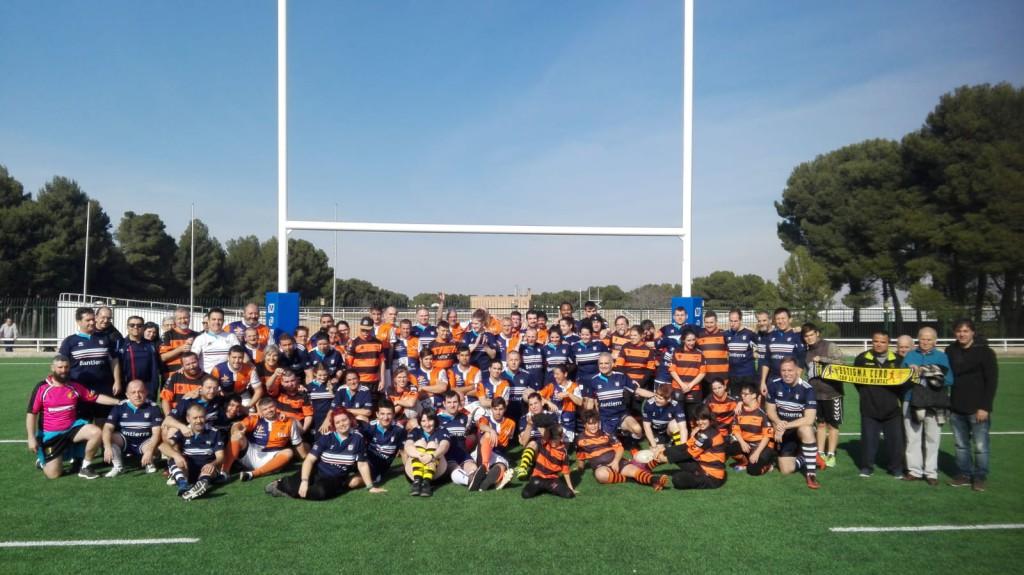 Éxito del primer torneo de rugby inclusivo en Zaragoza