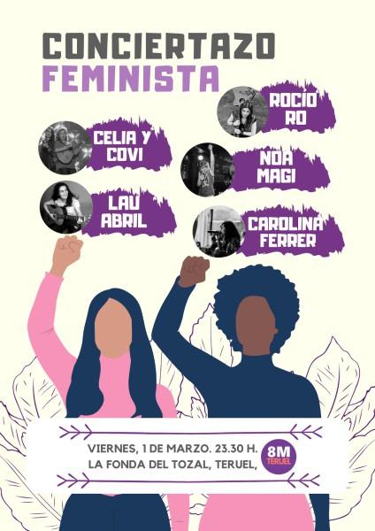 Cartel Conciertazo Feminista 2019