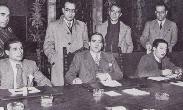 Imagen de archivo de Joaquín Ascaso, a la izquierda.