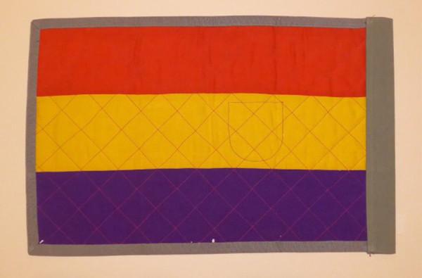Uno de los banderines propiedad de Rubén Martínez. Foto: Clara Asín.