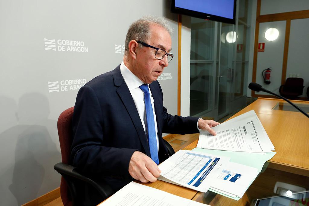Gimeno sitúa la ejecución del presupuesto de gastos de Aragón de 2018 en el 96%