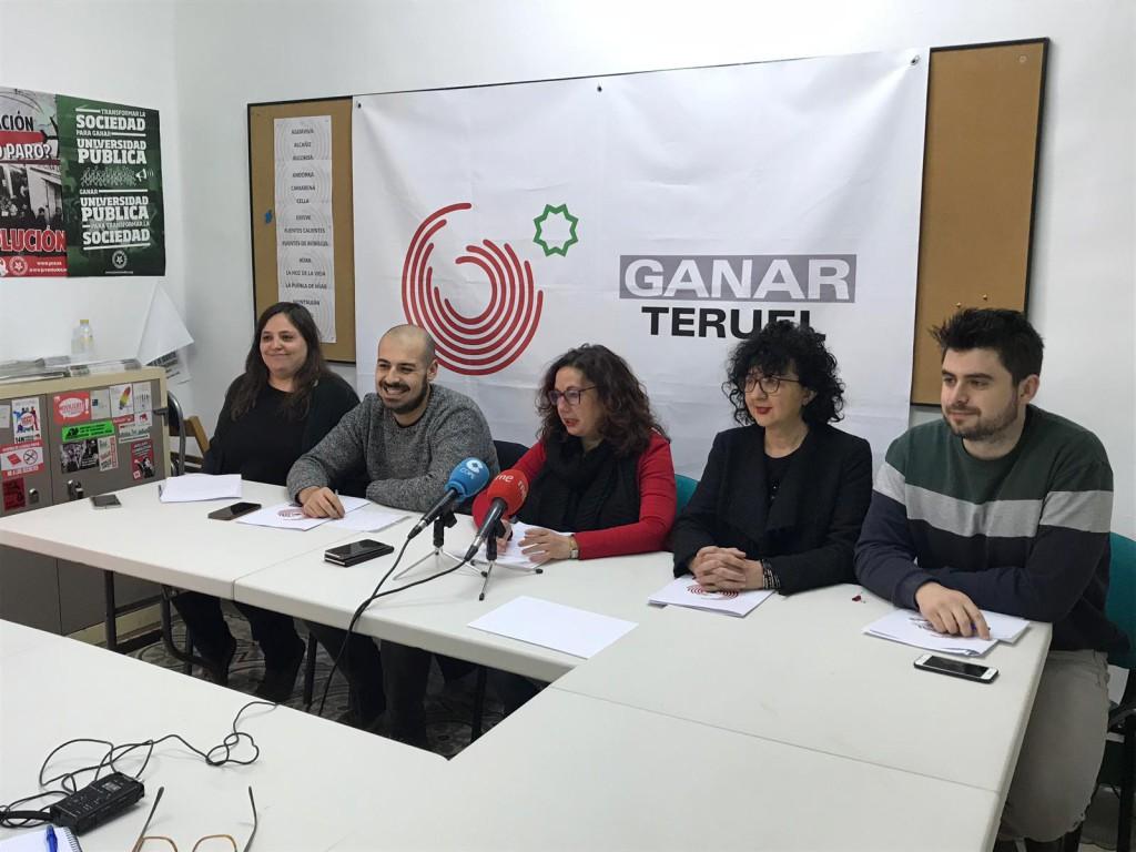 Ganar Teruel da inicio a la carrera electoral presentando su programa y sus primeros cinco puestos de la lista
