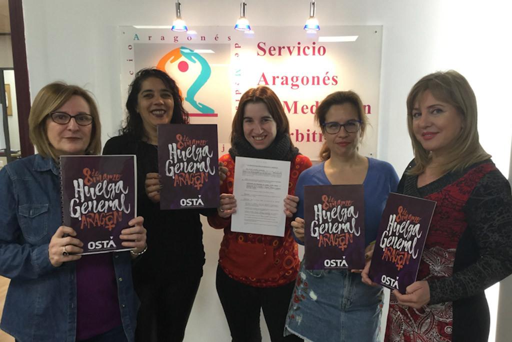 OSTA convoca huelga general el 8 de Marzo subrayando que esta convocatoria es del movimiento feminista