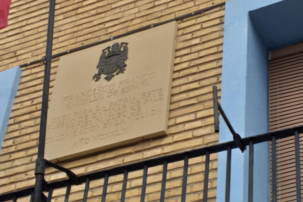 Exigen el cumplimiento de la Ley de Memoria Histórica a una docena de ayuntamientos zaragozanos