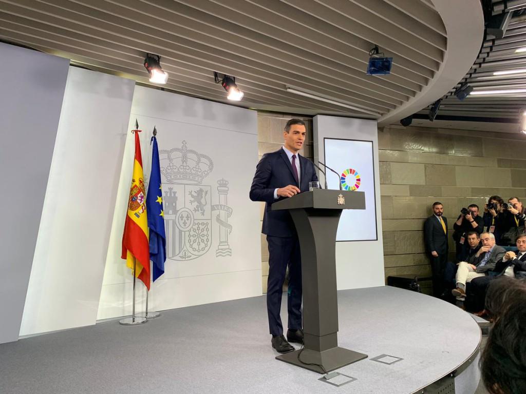 Pedro Sánchez convoca elecciones estatales para el 28 de abril en una comparecencia que convierte en mitin