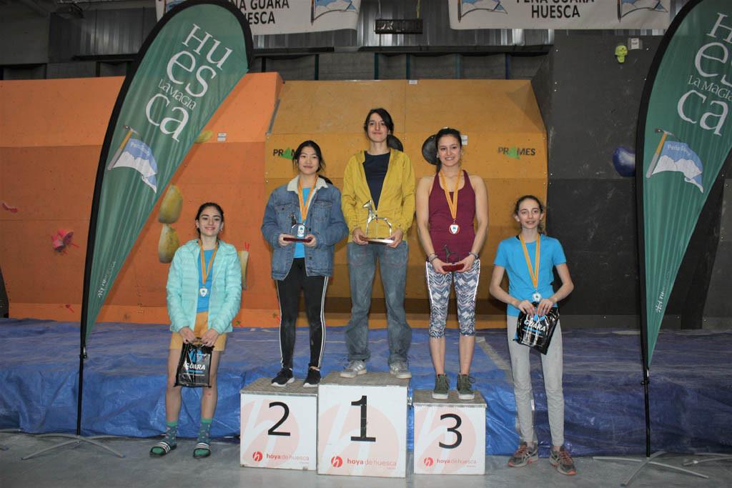 Cristian Gutierrez y Rebeca Pérez reeditan su título en la 4ª Competición Internacional de Escalada en Bloque 'Ciudad de Huesca'