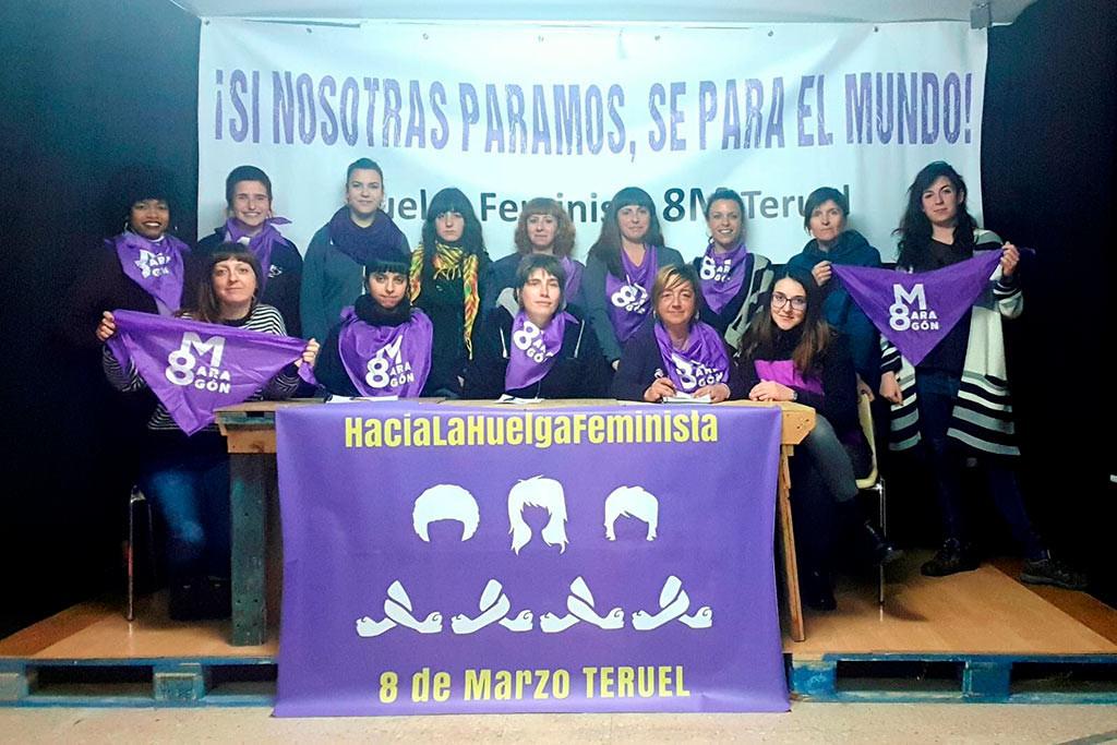 """La Asamblea del 8M Teruel incide en que este 8 de marzo """"las banderas no deben copar el espacio"""""""