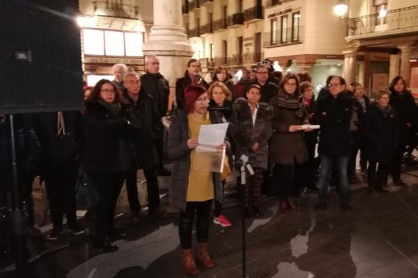 Concentración en Teruel. Foto: @Teruelrefugia