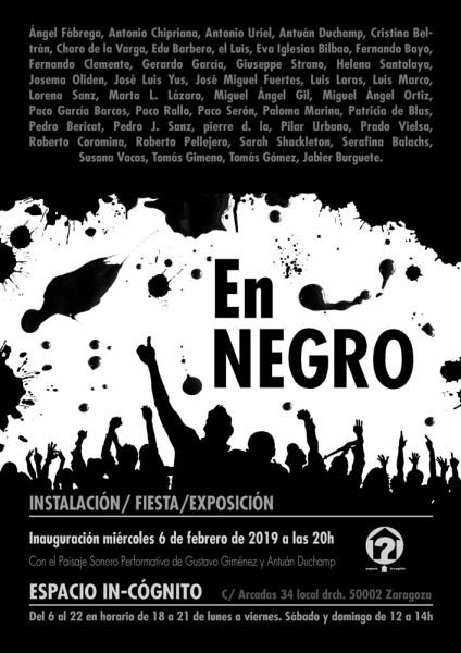 Cartel de la exposición En Negro.