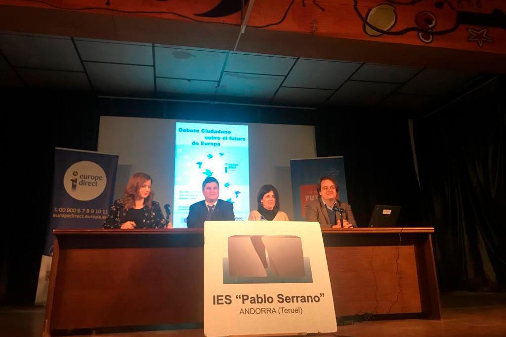 La despoblación y el cierre de la Térmica de Andorra, las principales preocupaciones de Embid