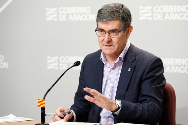 El consejero de Presidencia de la DGA, Vicente Guillén. Foto: DGA.