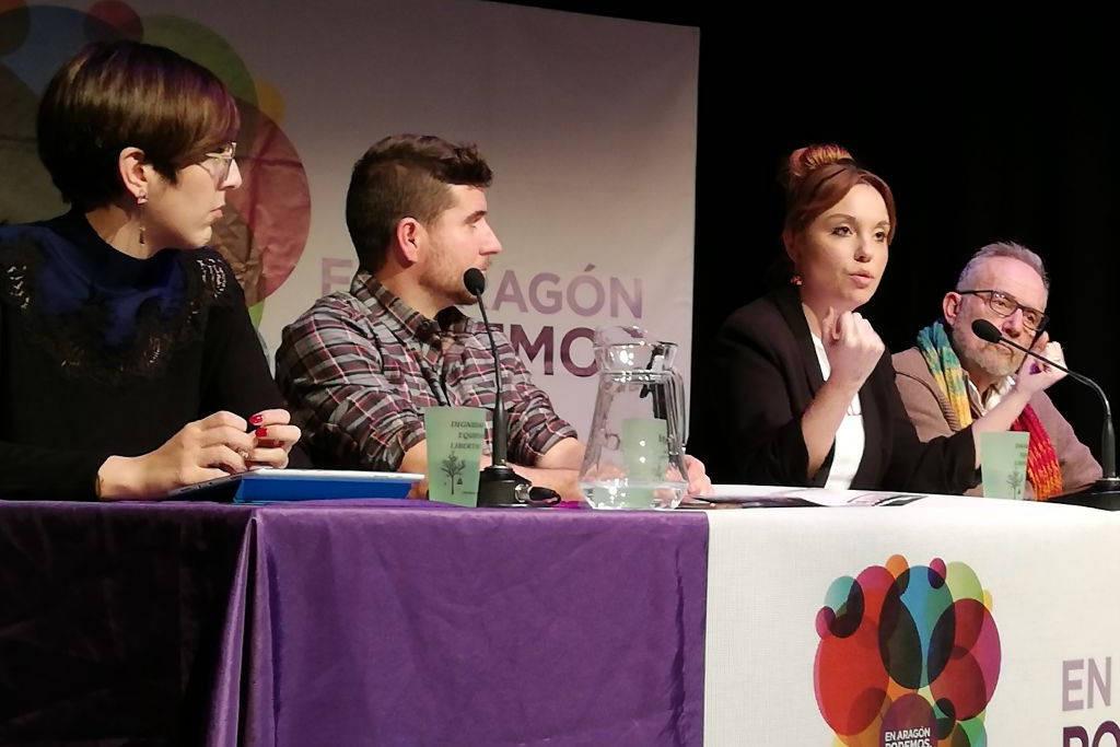 """Maru Díaz: """"En Podemos Aragón afrontamos el reto electoral con una sonrisa frente a la rabia y el odio de otras fuerzas políticas"""""""