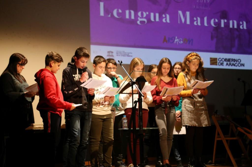 Mequinensa acoge el acto central de la celebración del Diya d'a Lengua Materna en Aragón