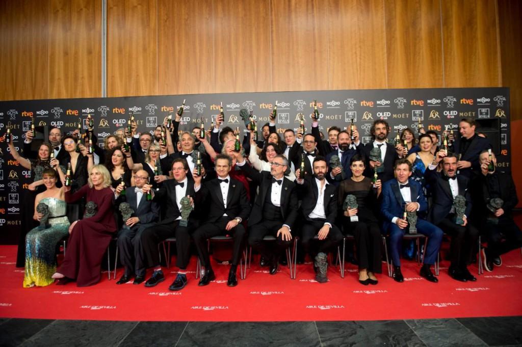 'El reino' y 'Campeones' triunfan en los Goya en una gala que reivindica el papel de las mujeres en el cine, la memoria, la diversidad y lucha del pueblo palestino
