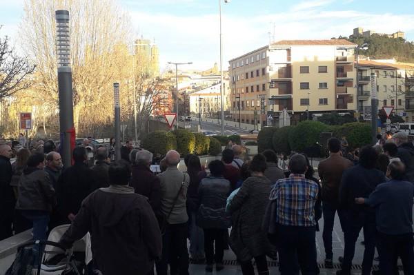 Acto 3 de Marzo en Alcanyiz. Foto de @SeralRoberto.
