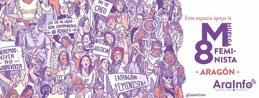 AraInfo se suma a la huelga feminista y solo informará de las movilizaciones del 8M