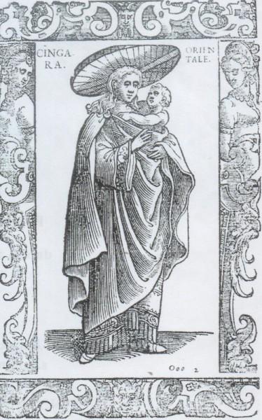 Cingara Orientale. Archivo Pretendemos Gitanizar el Mundo, extraída de Cesare Vecellio (1698) De gli habiti antichi, e moderni di diverse parti del mondo.