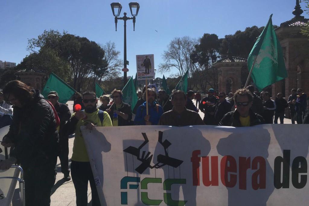 La plantilla de FCC Parques y Jardines continúa reivindicando sus derechos laborales y sociales