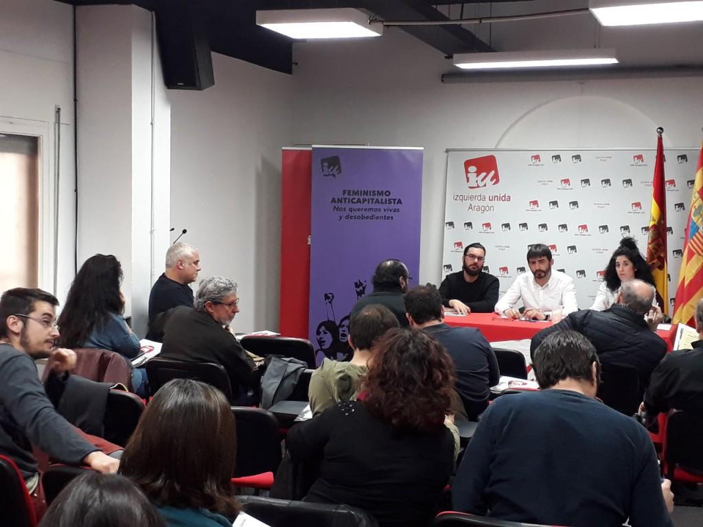 """IU Aragón llevará a los comicios de abril y mayo un programa """"para la mayoría social trabajadora"""""""