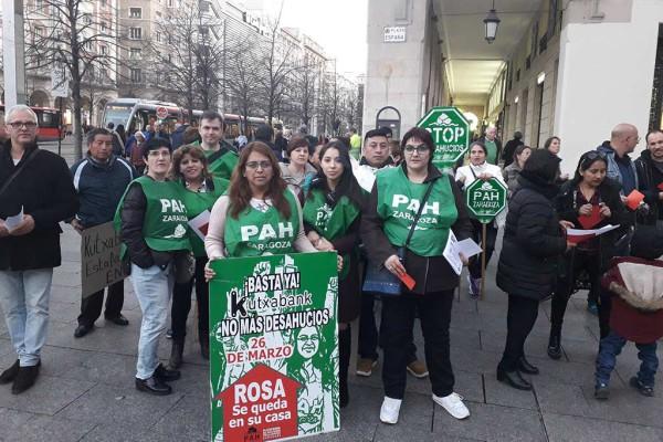 La PAH se sumó a la manifestación contra el racismo y la xenofobia. Foto: @SeralRoberto.