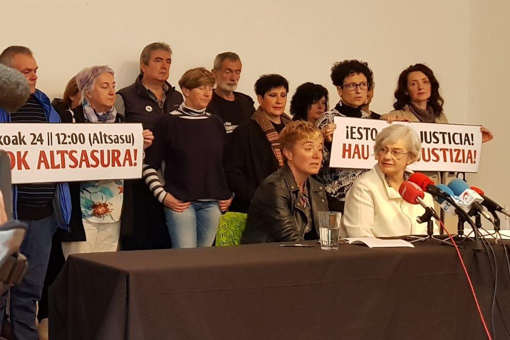 """Altsasu Gurasoak: """"La Audiencia Nacional no es un órgano de justicia"""""""