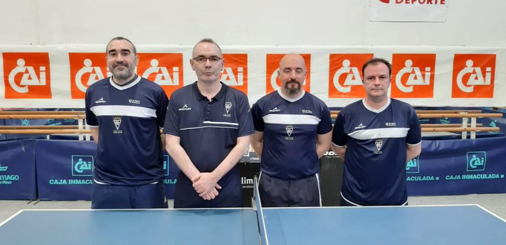 El CN Helios de tenis de mesa se proclama campeón de Aragón por equipos en categoría de veteranos