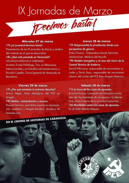 jornadas marzo PCE Aragon 2