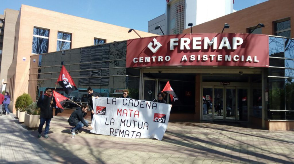 CGT Aragón continúa con la campaña en contra de la reforma de la Ley de Mutuas