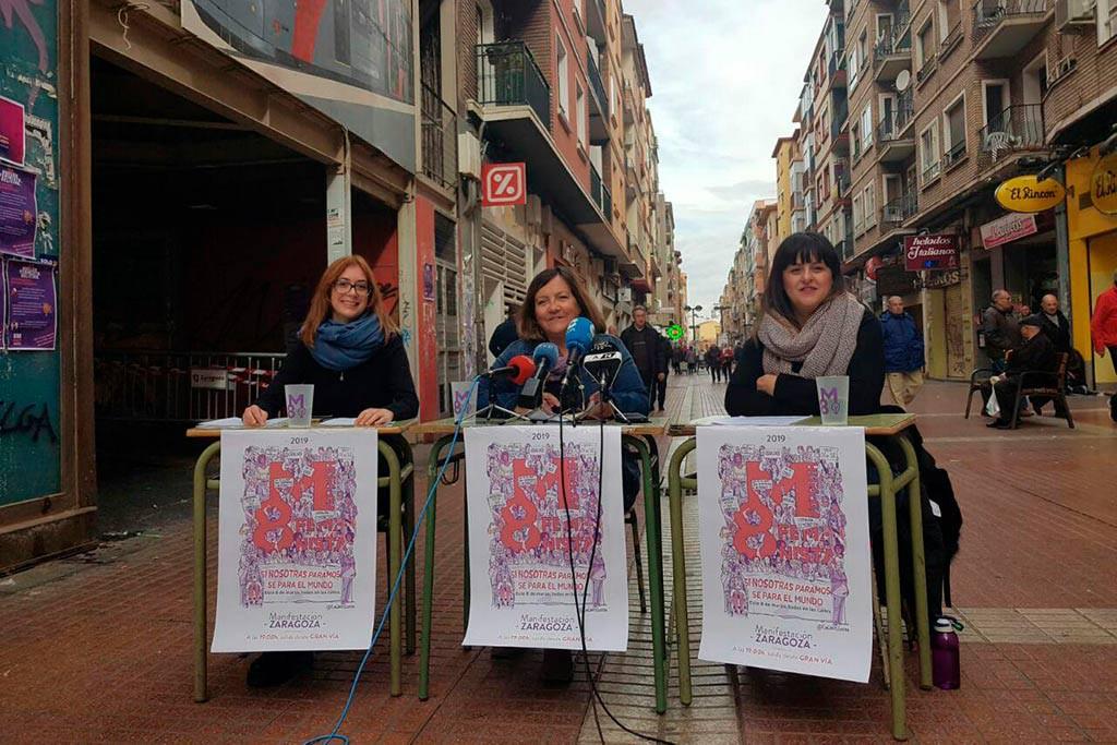 El 8M de Zaragoza asegura que la huelga feminista ya es un éxito
