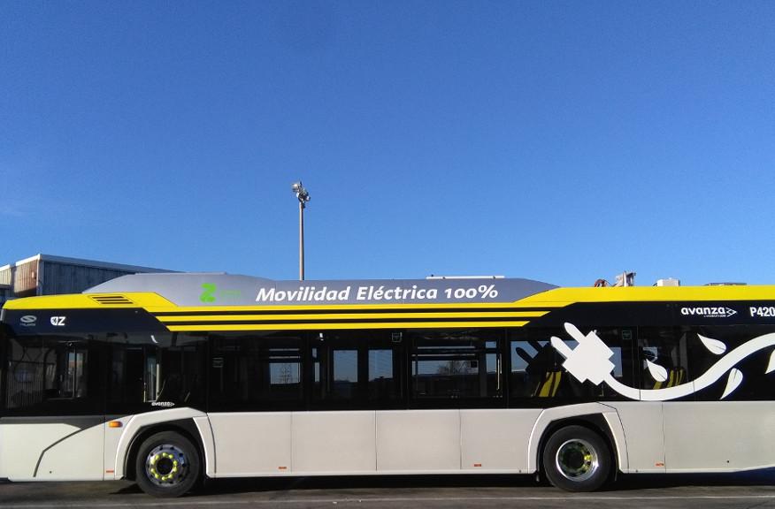 Un nuevo bus 100% eléctrico presta servicio en pruebas en Zaragoza